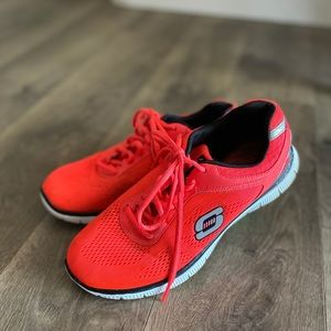 Hot pink running shoes
